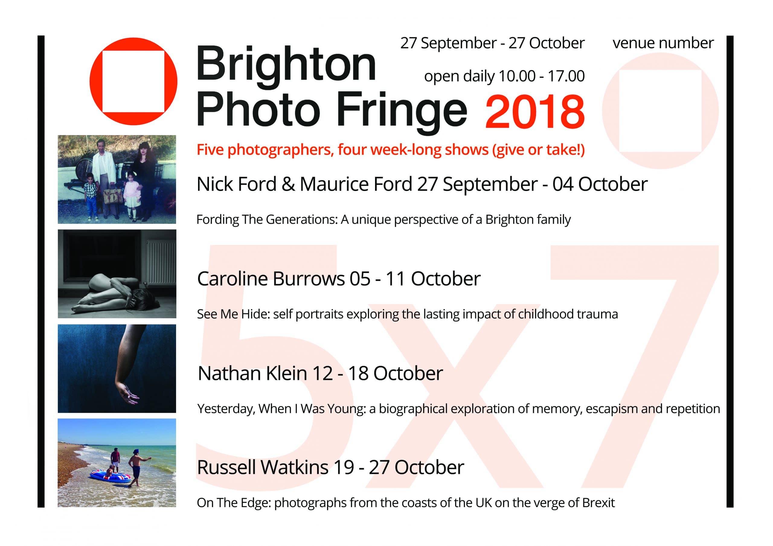 Brighton Photo Fringe 2018